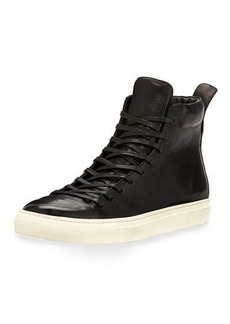 John Varvatos Men's 315 Reed Leather Mid-Top Sneakers