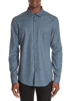 John Varvatos Collection Abstract Windowpane Sport Shirt