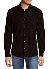 John Varvatos Animal Print Cotton Casual Button-Down Shirt