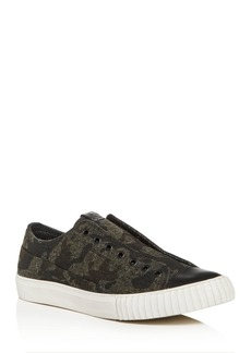 John Varvatos Bootleg Men's Camo Tweed Slip-On Sneakers