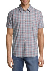 John Varvatos Casual Button-Down Cotton Plaid Shirt