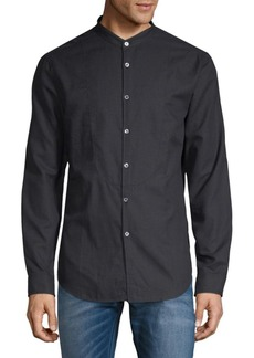 John Varvatos Classic Slim-Fit Cotton Button-Down Shirt