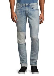 John Varvatos Wight Fit Skinny Patchwork Jeans