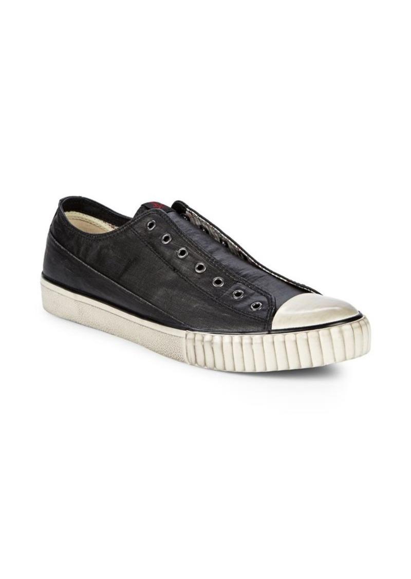 John Varvatos Coated Linen Low-Top Sneakers