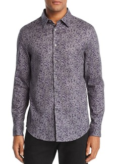John Varvatos Collection Abstract-Print Slim Fit Sport Shirt