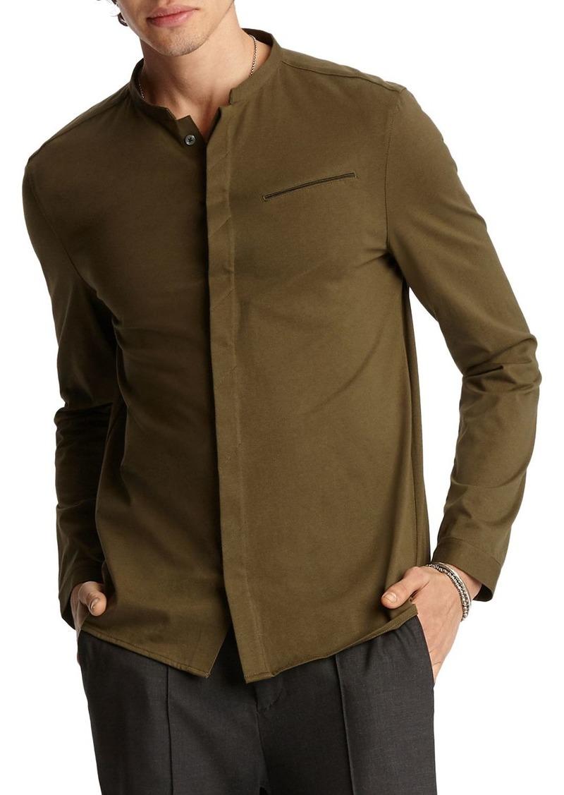 John Varvatos Collection Banded-Collar Regular Fit Shirt