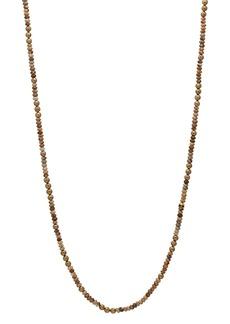 "John Varvatos Collection Brass & Jasper Bead Necklace, 24"""