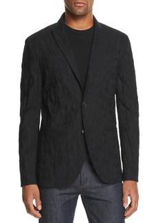 John Varvatos Collection Crinkle-Finish Slim Fit Blazer
