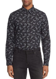 John Varvatos Collection Floral Print Regular Fit Button-Down Shirt
