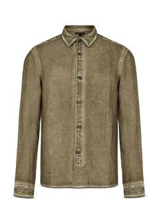 John Varvatos Collection Garment Dyed Classic Fit Shirt