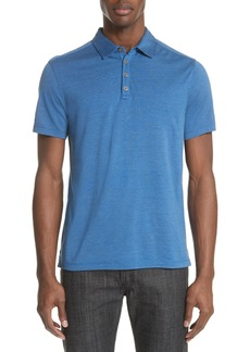John Varvatos Hampton Silk Blend Jersey Polo
