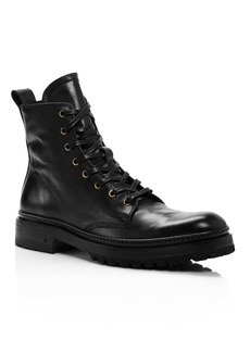John Varvatos Collection Men's Leather Combat Boots