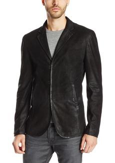 John Varvatos Collection Men's Slim Fit Leather Blazer Jacket