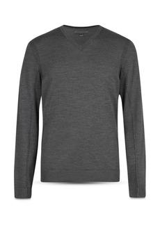 John Varvatos Collection Merino Wool Slim Fit V-Neck Sweater