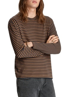 John Varvatos Collection Mixed-Stripe Easy Fit Tee