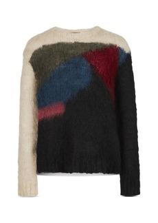 John Varvatos Collection Multicolor Mohair Sweater