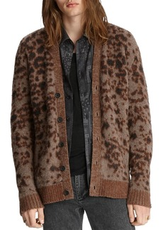 John Varvatos Collection Patterned Easy Fit Cardigan
