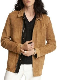 John Varvatos Collection Sheep Skin Regular Fit Workwear Jacket