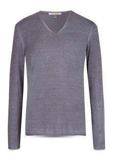 John Varvatos Collection Silk & Cashmere Regular Fit V-Neck Sweater
