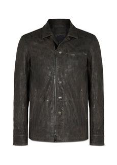 John Varvatos Collection Slim Fit Leather Jacket