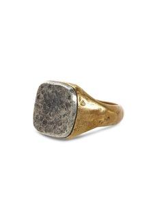 John Varvatos Collection Sterling Silver & Brass Signet Ring