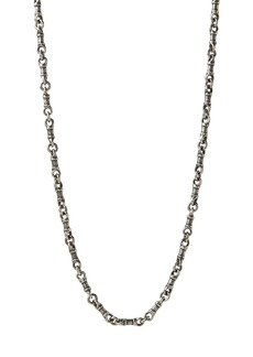 """John Varvatos Collection Sterling Silver Artisan Metals Chain Link Necklace, 24"""""""