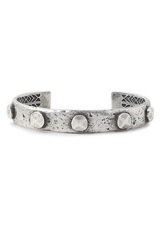 John Varvatos Collection Sterling Silver Artisan Metals Rivet Cuff Bracelet