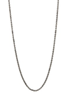 """John Varvatos Collection Sterling Silver Chain Necklace, 24"""""""