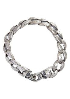 John Varvatos Collection Sterling Silver Curb Chain Bracelet