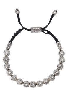 John Varvatos Collection Sterling Silver Distressed Bead Adjustable Bracelet