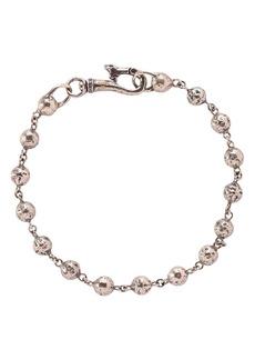 John Varvatos Collection Sterling Silver Distressed Bead Link Bracelet