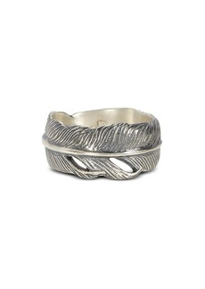 John Varvatos Collection Sterling Silver Feather Ring