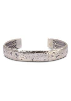 John Varvatos Collection Sterling Silver Medium Distressed Cuff