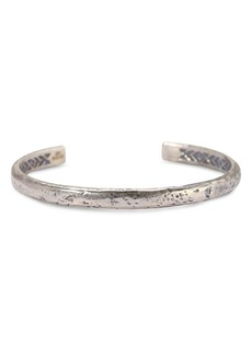 John Varvatos Collection Sterling Silver Small Distressed Cuff