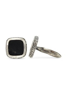 John Varvatos Collection Sterling Silver Square Onyx Cufflinks