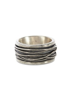 John Varvatos Collection Sterling Silver Wide Woven Ring