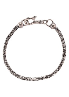 John Varvatos Collection Sterling Silver Woven Chain Bracelet