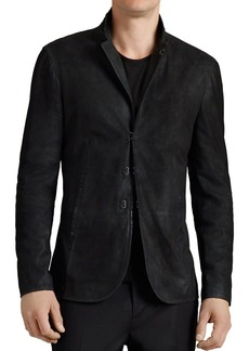 John Varvatos Collection Suede Hook And Bar Slim Fit Jacket