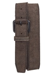 John Varvatos Collection Textured Leather Belt