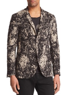 John Varvatos Collection Velvet Burnout Regular Fit Blazer