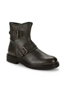 John Varvatos Cooper Buckled Leather Boots