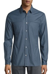 John Varvatos Cotton-Blend Long Sleeve Shirt