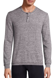 John Varvatos Cotton Heathered Henley