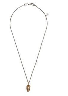 John Varvatos Distressed Skull Pendant Necklace