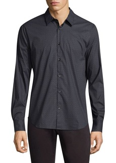John Varvatos Dotted Cotton Button-Down Shirt