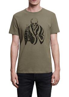 John Varvatos Flag Skeleton Graphic Tee