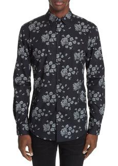 John Varvatos Floral Print Shirt