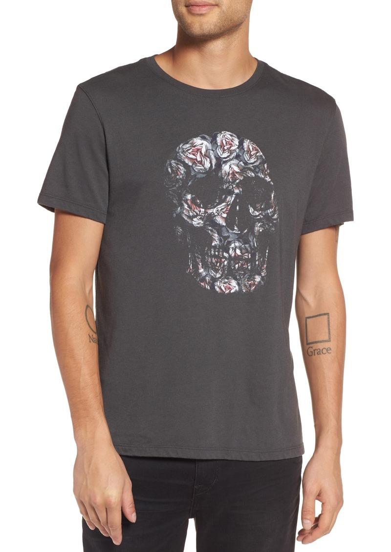 a233d388f John Varvatos John Varvatos Floral Skull Graphic T-Shirt | T Shirts