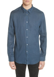 John Varvatos Garment Dyed Linen Shirt