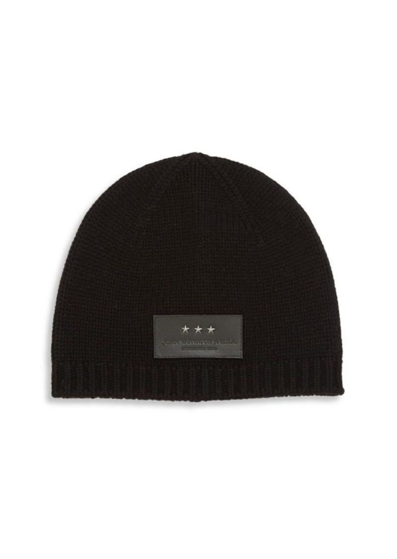 On Sale today! John Varvatos Knit Wool   Cashmere Blend Beanie f3d608b97c1